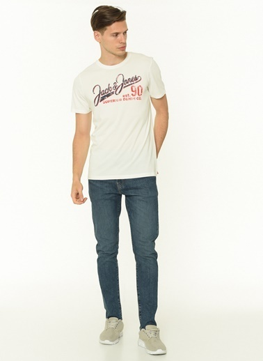 Jack & Jones Jack & Jones Erkek Baskılı T Shirt 12180867 Renkli